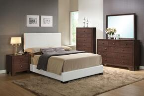 Ireland III Collection 14395FDMCN Full Size Bed + Dresser + Mirror + Chest + Nightstand in White Color