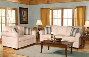 25550030SL Vicki Sofa + Loveseat with 16 Gauge Border Wire, Montage Pewter Toss Pillows, Sinuous Springing System, Hi-Density Foam Cores and Solid Kiln Dried Hardwoods in Sagittarrius Pearl