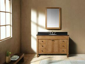 WLF6068-48KIT 48 Single Sink Cabinet-Matching Granite From Wlf5016, Wlf5020, Wlf5048, Wlf6012, Wlf6018 in Weathered Oak with Backsplash