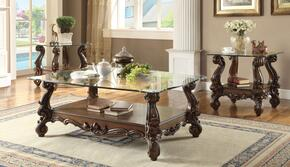 Versailles 82100C3E 3 PC Living Room Table Set with Coffee Table + 2 End Tables in Cherry Oak Finish