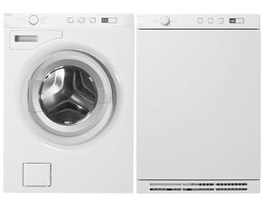 W6424W 2.12 cu. ft. Capacity Front Load Washer + T754W 3.9 cu. ft. Capacity Electric Dryer (White)