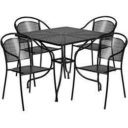 Flash Furniture CO35SQ03CHR4BKGG