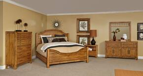 Bethany Square 4930KPB2NCDM 6-Piece Bedroom Set with King Panel Bed, 2 Nightstands, Chest, Door Dresser and Landscape Mirror in Rustic Brown Finish