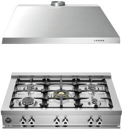 "2-Piece Stainless Steel Kitchen Package with CB36500XLP 36"" Liquid Propane Rangetop and KU36PRO1X14 36"" Range Hood"