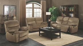 G520 Collection G526RSET 3 PC Living Room Set with Reclining Sofa + Loveseat + Recliner in Coffee Color