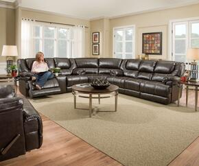 Bingo 50451BR-65630716 4 Piece Set including  Motion Sofa, Loveseat, Wedge and  Recliner  With Stitched Detailing in Brown