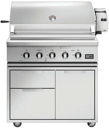"Freestanding Grill with BH1-36R-L 36"" Liquid Propane Grill on CAD1-36 Freestanding Cart"