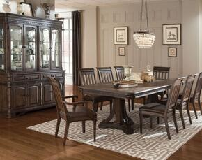 Carlsbad 105731CC 10 PC Dining Room Set with Dining Table + 6 Side Chairs + 2 Armchairs +  China Cabinet in Vintage Espresso Finish