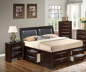 G1525IFSB4NCH 3 Piece Set including  Full Size Bed, Nightstand and Chest  in Cappuccino
