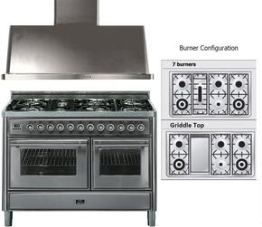 2-Piece Stainless Steel Kitchen Package with UMT120FDMPI 48