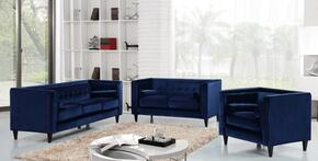 Taylor 642NAVYSLC 3 PC Living Room Set with Sofa + Loveseat + Chair in Navy Color