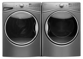"Chrome Shadow Front Load Laundry Pair with WFW92HEFC 27"" Washer and WGD92HEFC 27"" Gas Dryer"