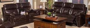 2032630SCHSL Galaxy 2 Piece Manual Recline Living Room Set with Sofa and Loveseat, in Chocolate