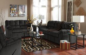 Leilani Collection MI-9800SLR-EBON 3-Piece Living Room Set with Sofa, Loveseat and Recliner in Ebony