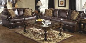 4200038SET4 Axiom 7-Piece Living Room Set with Sofa, Loveseat, T616-1 Cocktail Table, T616-2 End Table, T616-4 Sofa Table and L442234 Pair of Lamps in Walnut