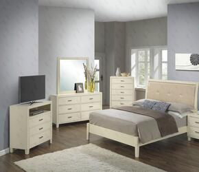 G1290AKBCHDMTV 5 Piece Set including King Size Bed, Chest, Dresser, Mirror and Media Chest  in Beige