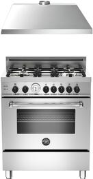 "2-Piece Stainless Steel Kitchen Package with MAS304GASXT 30"" Freestanding Gas Range and KU30PRO1XV 30"" 400 CFM Range Hood"