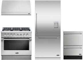 "RGV2366L 36"" Liquid Propane Gas Range with 6 Sealed Dual Flow Burners, 5.3 Cu. Ft. Oven Capacity, Convection Bake, and Flat Vent Trim: Stainless Steel"