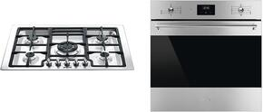 "2-Piece Kitchen Package With PGFU30X 30"" Gas Cooktop and SU45VCX1 24"" Electric Single Wall Oven in Stainless Steel"