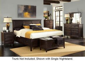 Westlake WSLDM5096 6-Piece Bedroom Set with Queen Storage Bed, Dresser, Mirror, Two Nightstands and Chest in Dark Mahogany Finish