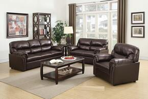 G265SET 3 PC Living Room Set with Sofa + Loveseat + Armchair in Chocolate Color