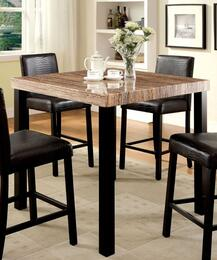 Rockham II Collection CM3278PT4PC 5-Piece Dining Room Set with Rectangular Table and 4 Bar Stools in Black Finish