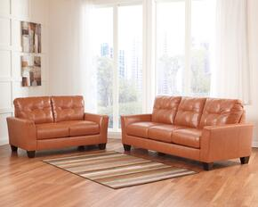 Paulie Collection 27002SL 2-Piece Living Room Set with Sofa and Loveseat in Orange