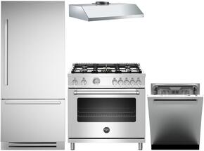 4-Piece Stainless Steel Kitchen Package with REF30PIXR 30