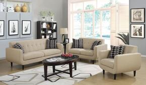Stansall 505204SLC 3 PC Living Room Set with Sofa + Loveseat + Chair in Ivory Color