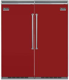 "72"" Built-In Side by Side Refrigerator/Freezer Combo with VCRB5363LAR 36"" All Refrigerator and VCFB5363RAR 36"" All Freezer"