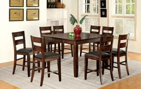 Dickinson II CM3187PT8PC 9-Piece Dining Room Set with Counter Height Rectangular Table and 8 Counter Height Side Chairs in Dark Cherry Finish