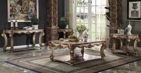 Vendome 83000CED 4 PC Living Room Set with Coffee Table + Sofa Table + 2 End Tables in Gold Patina Finish