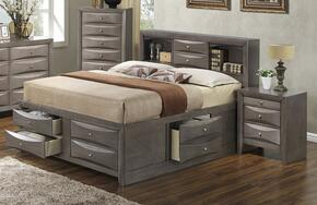 G1505GFSB3CHN 3 Piece Set including  Full Size Bed, Chest and Nightstand in Gray