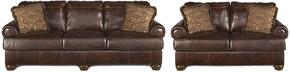 Axiom Collection 42000SL 2-Piece Living Room Set with Sofa and Loveseat in Walnut