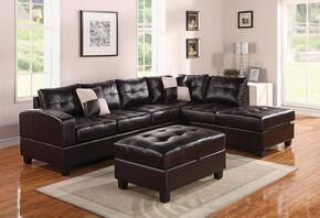 511952PC Kiva 2 PC Living Room Set with Left Facing Sectional Sofa and Ottoman in Espresso