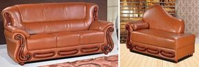 Bella 632-COGNAC-S-CH 2 Piece Living Room Set with Sofa and Chaise in Cognac