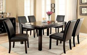Grandstone I Collection CM3823BKT6SC 7-Piece Dining Room Set with Rectangular Table and 6 Side Chairs in Natural Tone