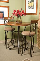 Hamilton Collection 697-404M1 3 PC Bar Table Set with Pub Table + 2 Swivel Barstools in Matte Pewter and Bronze Finish