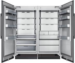 "72"" Panel Ready Side-by-Side Column Refrigerator Set with DRR36980LAP 36"" Left Hinge Refrigerator, DRZ36980RAP 36"" Right Hinge Freezer, and Installation Kit"