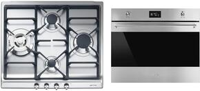 "2-Piece Kitchen Package With SR60GHU3 24"" Gas Cooktop and SC770U 27"" Electric Single Wall Oven in Stainless Steel"