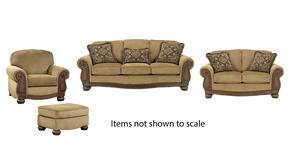 Lynnwood Collection 68500SLCO 4-Piece Living Room Set with Sofa, Loveseat, Living Room Chair and Ottoman in Amber