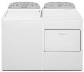 "Cabrio White Top Load Laundry Pair with WTW5000DW 27.5"" Washer and WGD5000DW 29"" Gas Dryer"