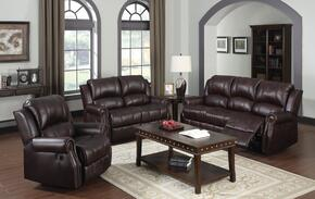 Josef 50775SLR 3 PC Living Room Set with Sofa + Loveseat + Recliner in Brown Color