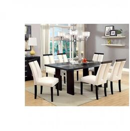 Luminar Collection CM3559TDT6SC 7-Piece Dining Room Set with 76