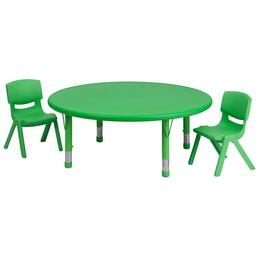 Flash Furniture YUYCX00532ROUNDTBLGREENRGG