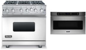 2-Piece Stainless Steel Kitchen Package with VGIC53616BSS 36