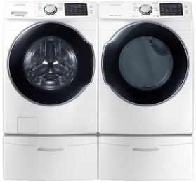 White Front Load Laundry Pair with WF45M5500AW 27