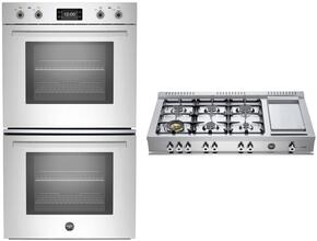 "Professional 2-Piece Stainless Steel Kitchen Package with PROFD30XT 30"" Double Wall Oven and CB486G00X 48"" Gas Cooktop"