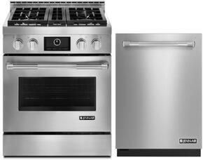 """2-Piece Kitchen Package with JGRP430WP 30"""" Freestanding Gas Range and JIC4715GS 15"""" Electric Cooktop, in Stainless Steel"""