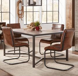 Studio 16 Collection 1661T4C 5-Piece Dining Room Set with Dining Table and 4 Side Chairs in Brown and Black
